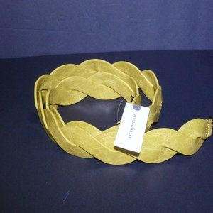 ANTHROPOLOGIE Bette Braided Bag Strap CHARTREUSE /